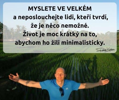 Radek Karban - myslete ve velkém! Vize, cíle, sny.